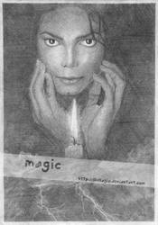 Michael Jackson with candle by llvllagic