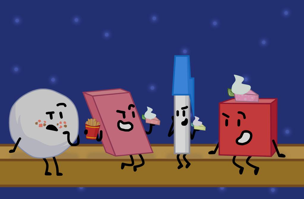 The four main guys  by xXShinyLeafXx