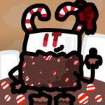 Candy Cane Marshmallow icon by xXShinyLeafXx