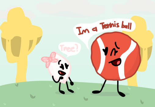 Shiny Jr thinks Red Tennis Ball is a tree?...