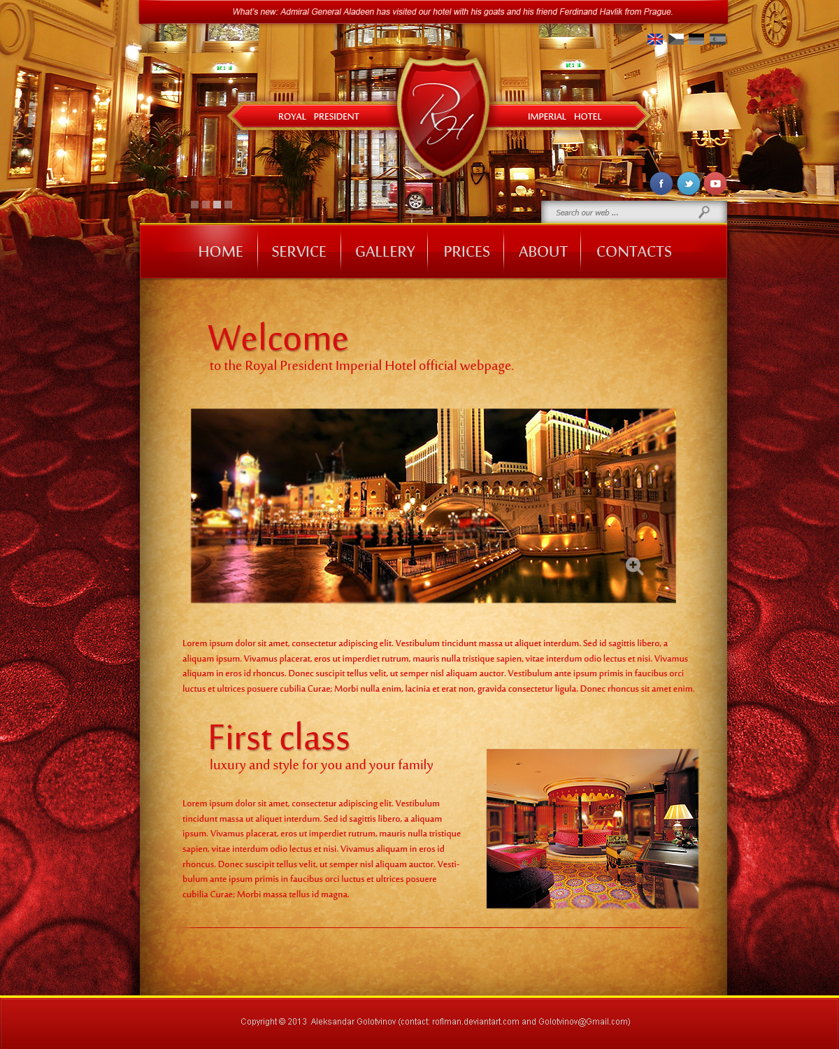 luxury hotel web design beta by rolexander designs interfaces web