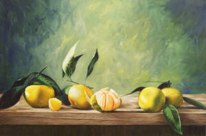 Oranges On Table by mp2015
