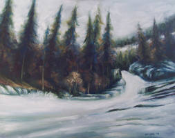 Winter River by mp2015
