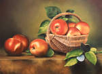 Apples In Basket by mp2015