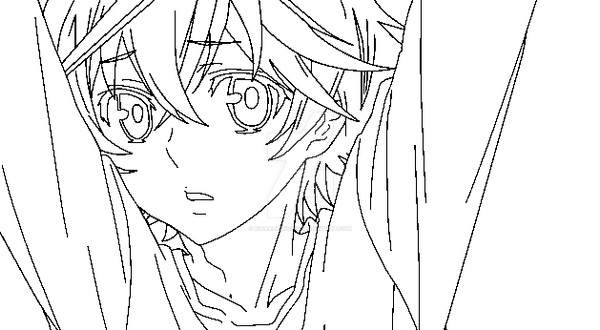 Lineart Anime Boy : Anime boy base lineart by kiaraorinichu on deviantart