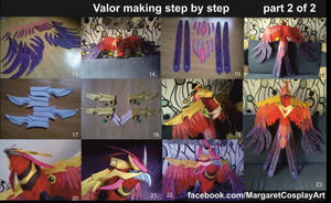 Valor the Phoenix making step by step
