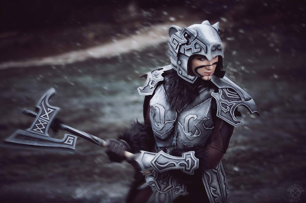 Nordic Carved Armor (Skyrim) by MargaretCosplayArt