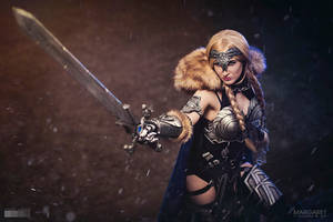 Margaret as Valkyrie from Marvel comics COSPLAY