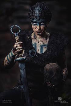 Margaret as Senua - cosplay from Hellblade