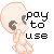 Pay-to-Use Icon base by ZombiiCrow