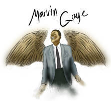 MARVIN GAYE WINGS by SJROBZY