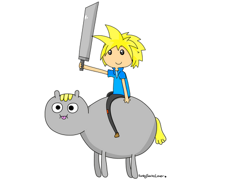 Cloud and his Poo Brained Horse