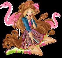 Flora Flamingo Fairy by CogwheelFairy