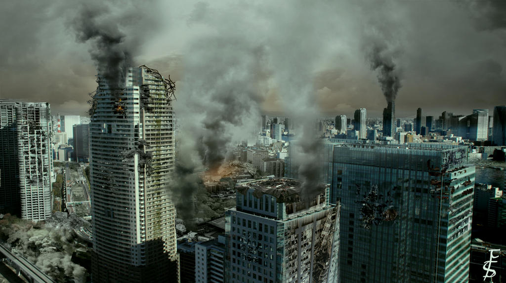 Destroyed City Wallpaper |Future Destroyed City