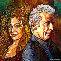 Twelfth Doctor x River by evisionarts