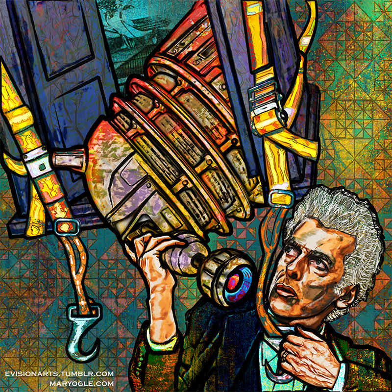 Twelve and Dalek by evisionarts