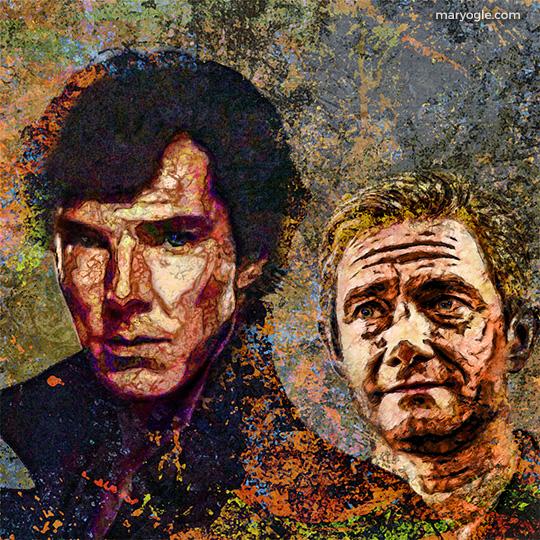 Sherlock Holmes and John Watson by evisionarts