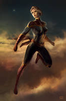 Captain Marvel by dKeeNo44