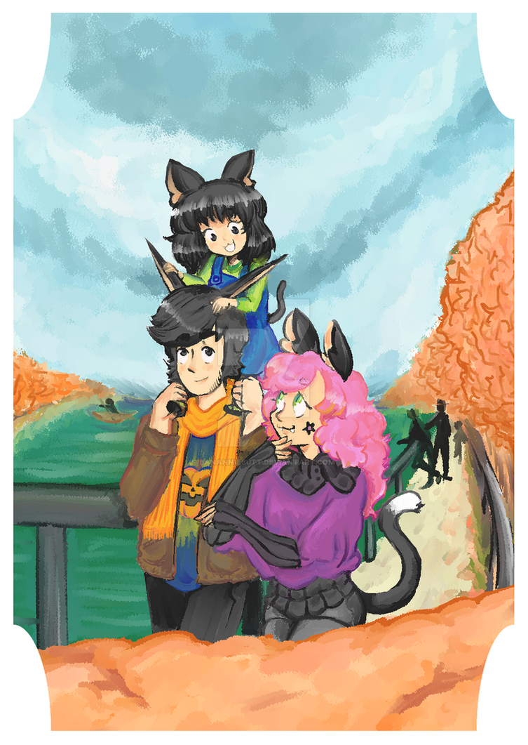 A Family in Fall by Bananniebutt