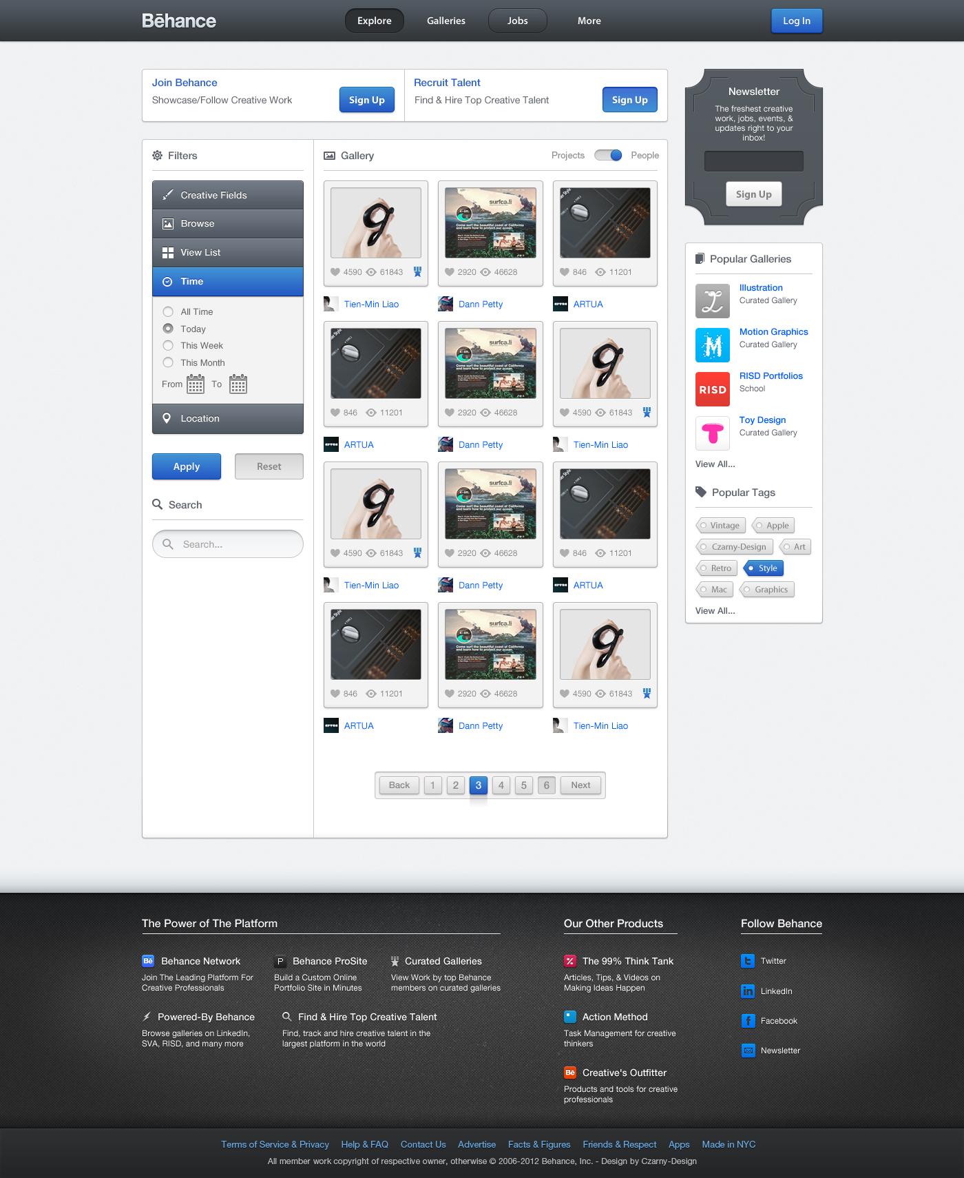 Behance.net - Redesign by Czarny-Design