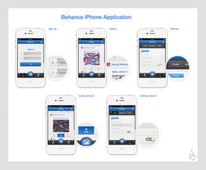 Behance iPhone Application