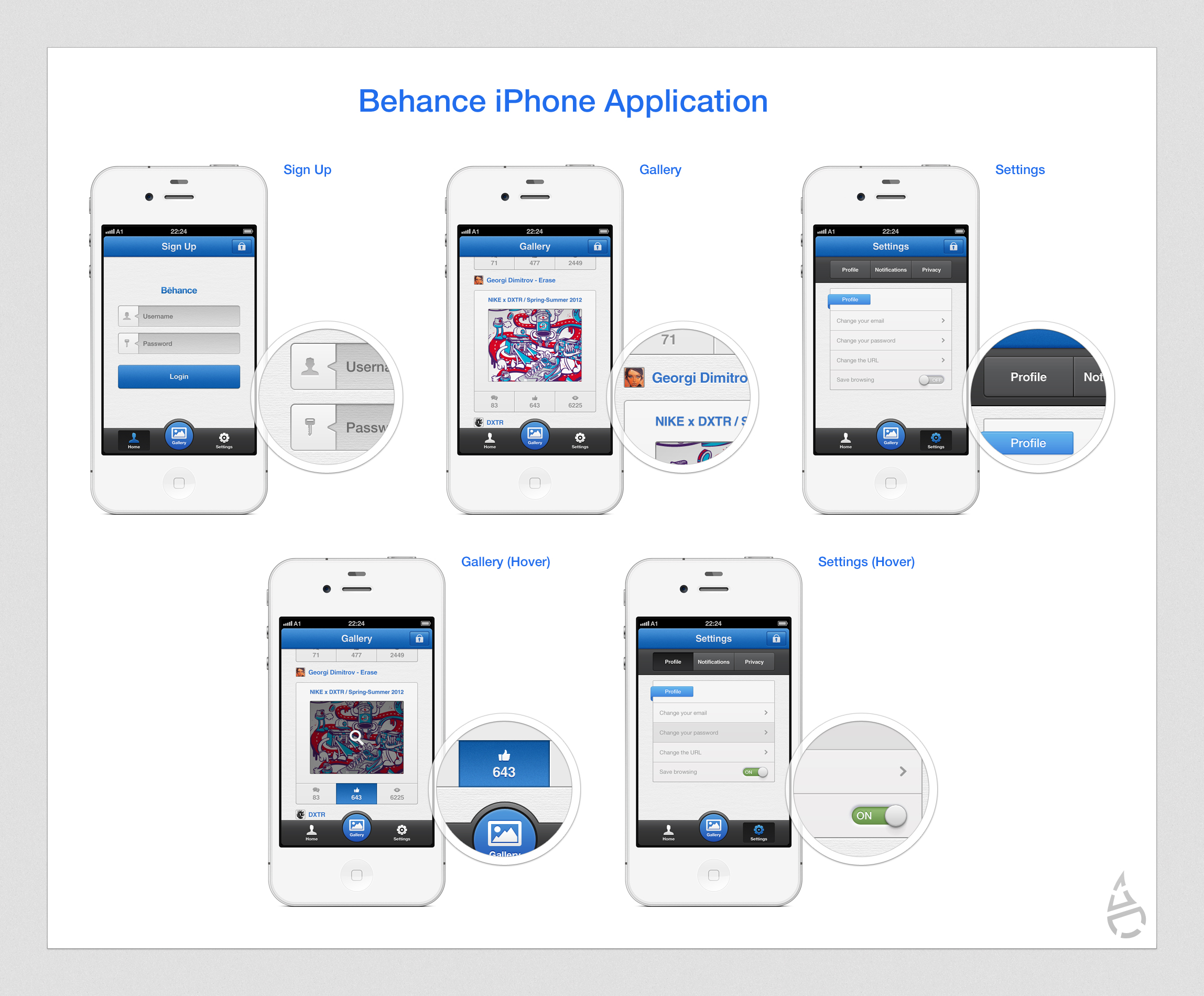 Behance iphone application by czarny design on deviantart for Designing an iphone app