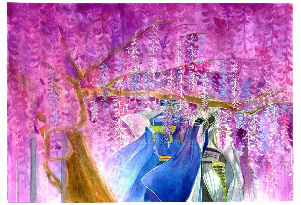 :Touken Ranbu FA: Wisteria by Alice19sai