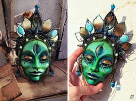 Matangi Green Devi  Mask by LimbicSplitter