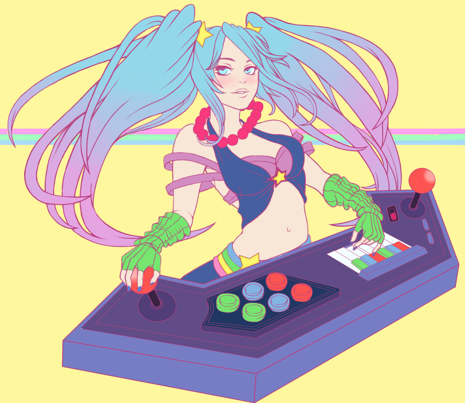 Arcade Sona by xHappyYellowStripes