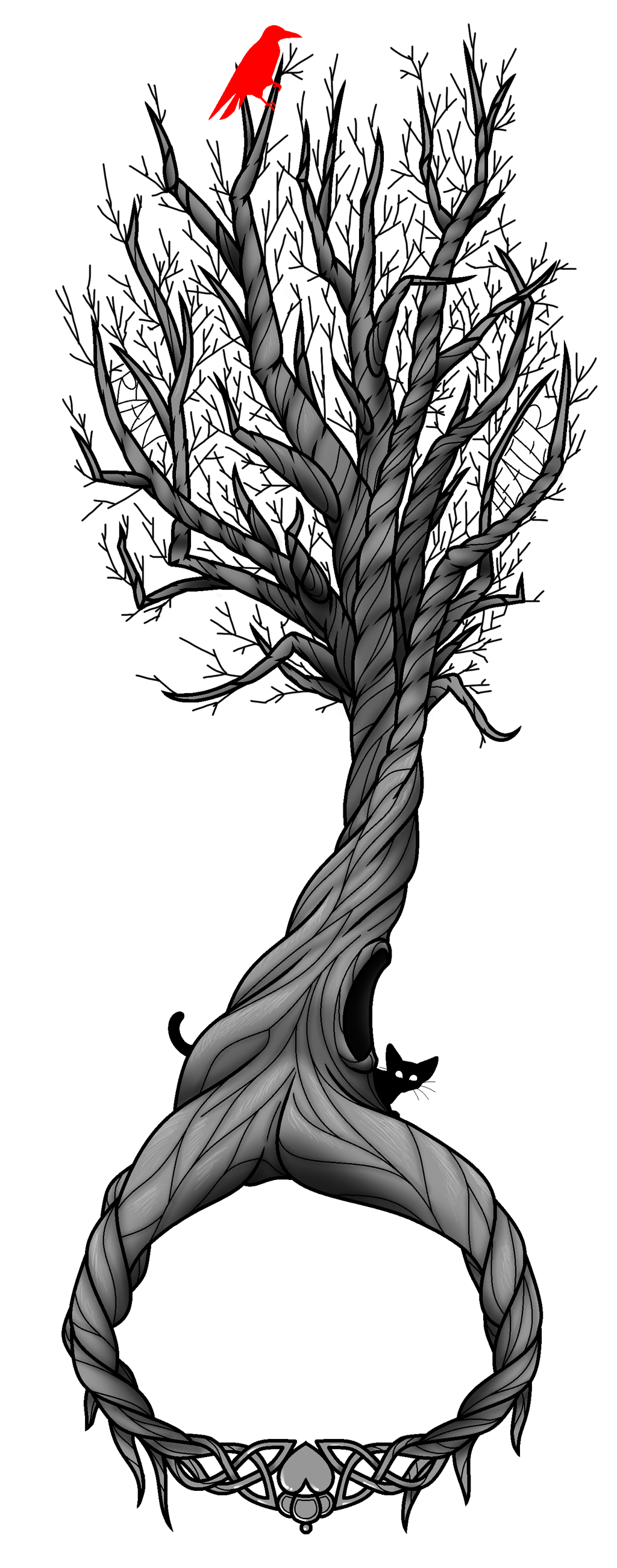 Tree Of Life Tattoo With Heart Roots: Tree Of Life Tattoo Design By Werewolf9595 On DeviantArt