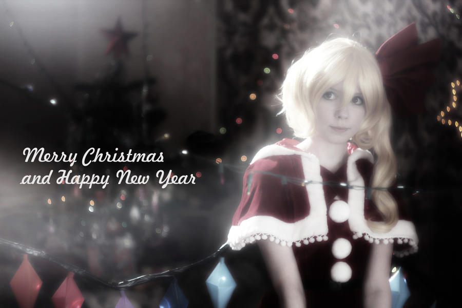 Flandre Scarlet cosplay Merry X-mas by Tenori-Tiger