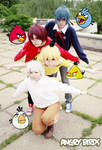 Angry Birds cosplay!