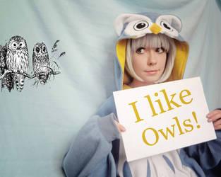 Owl girl by Tenori-Tiger