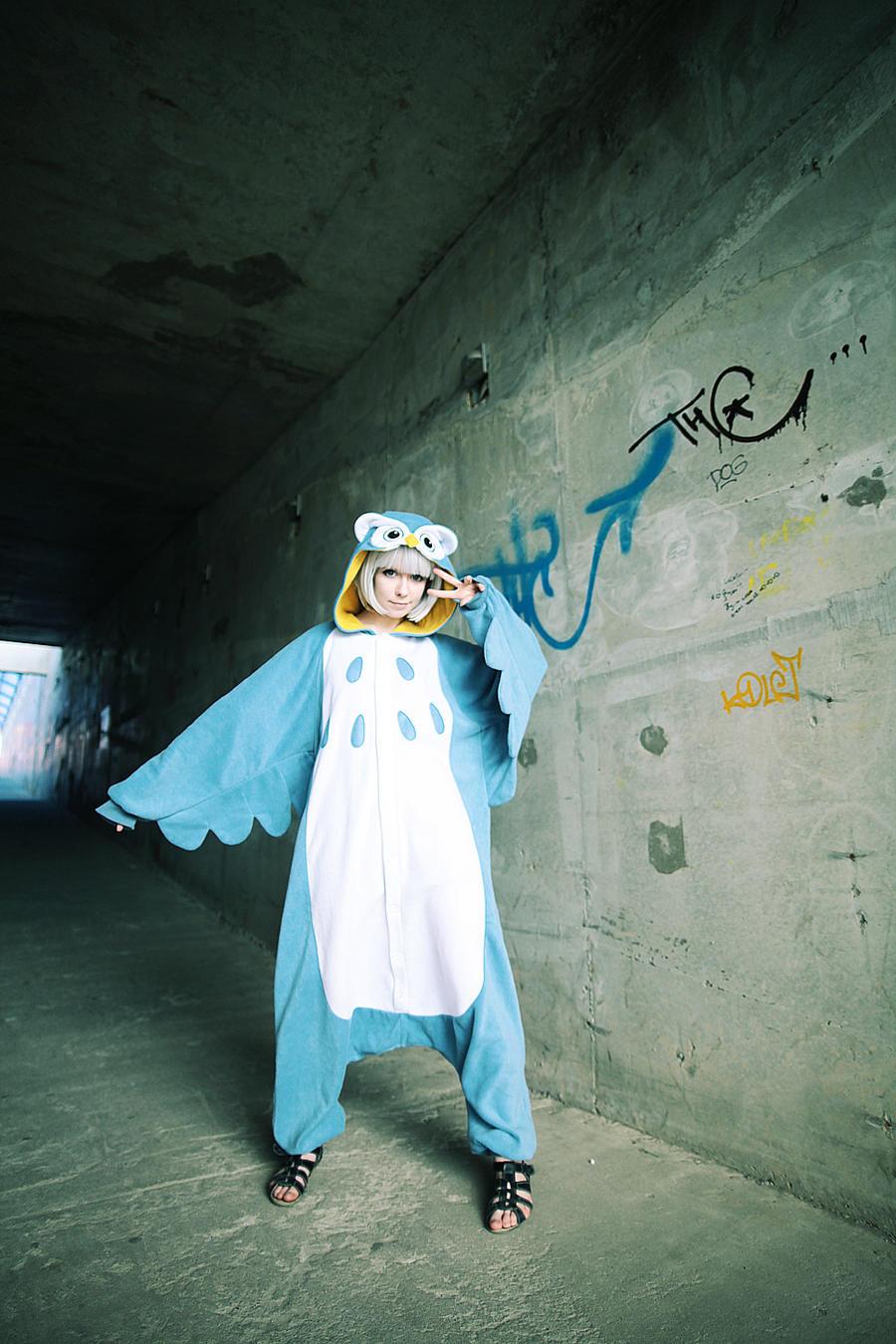 OWL girl kigurumi cosplay by Tenori-Tiger