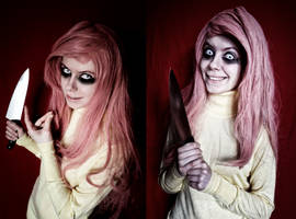 stay out of my shed- Fluttershy cosplay