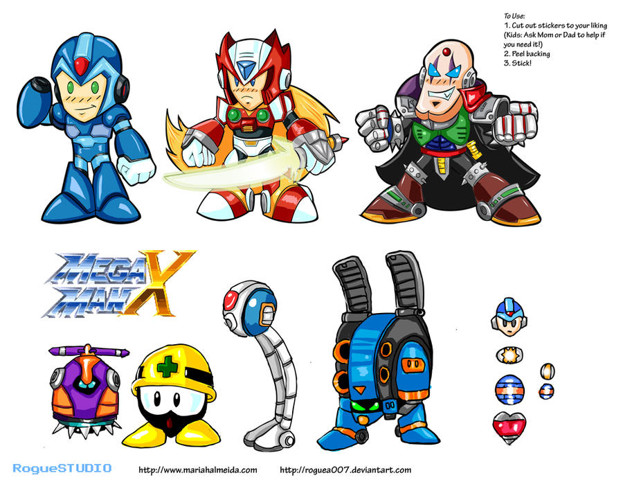 Megaman x sticker sheet by roguea007