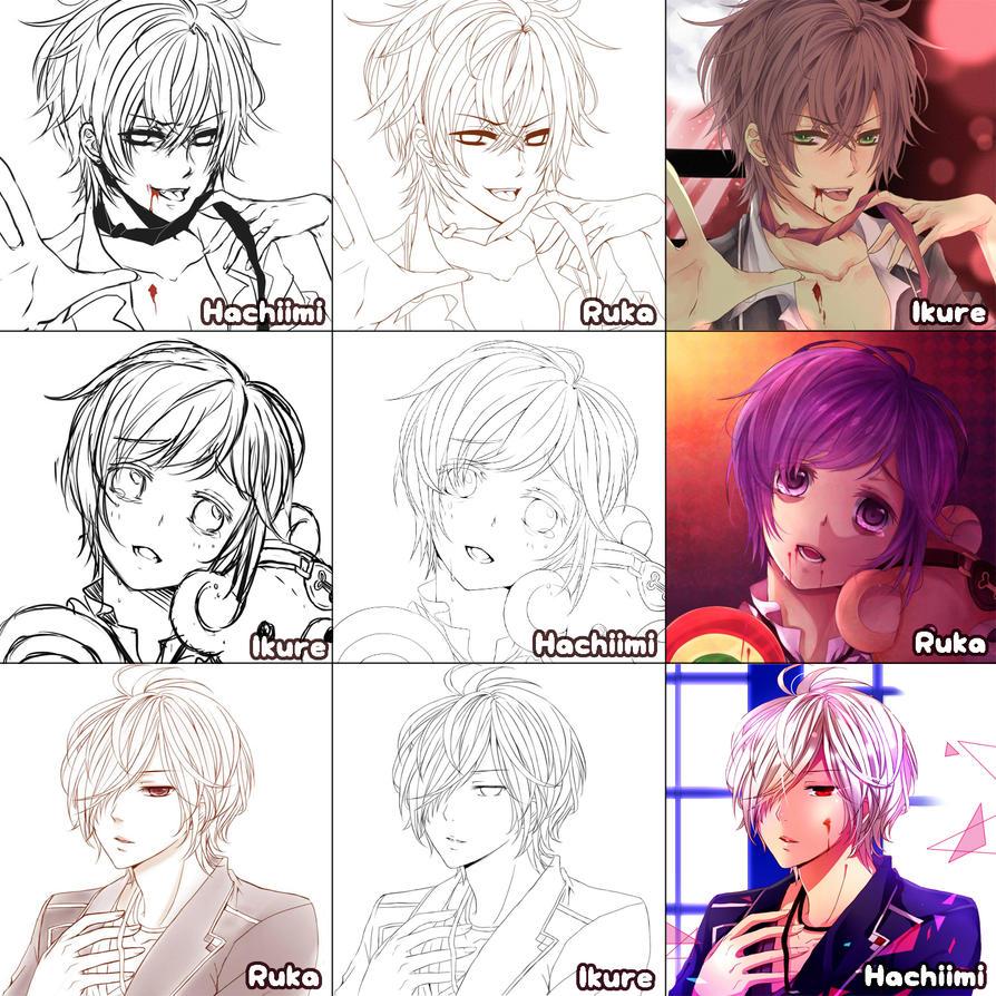 [Switch around meme] Diabolik lovers by Hachiimi
