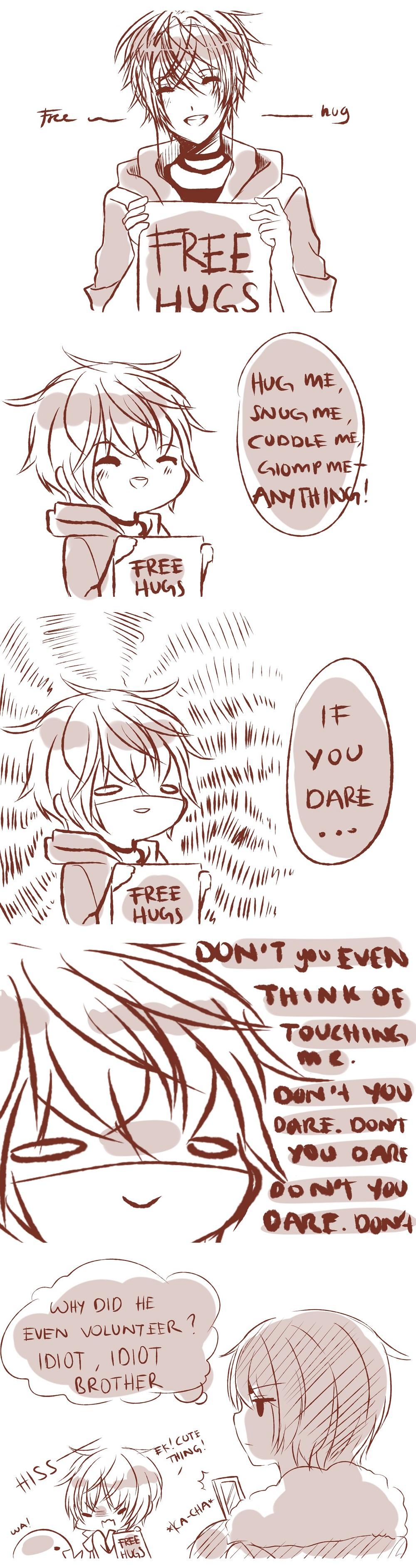 Free hugs by Hachiimi