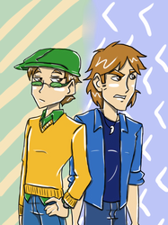 Teen Rogues- Sam and Digger by FullmetalApollo