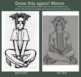 Draw Again Meme - Ryou