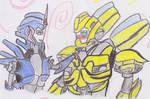 bumblebee y arcee
