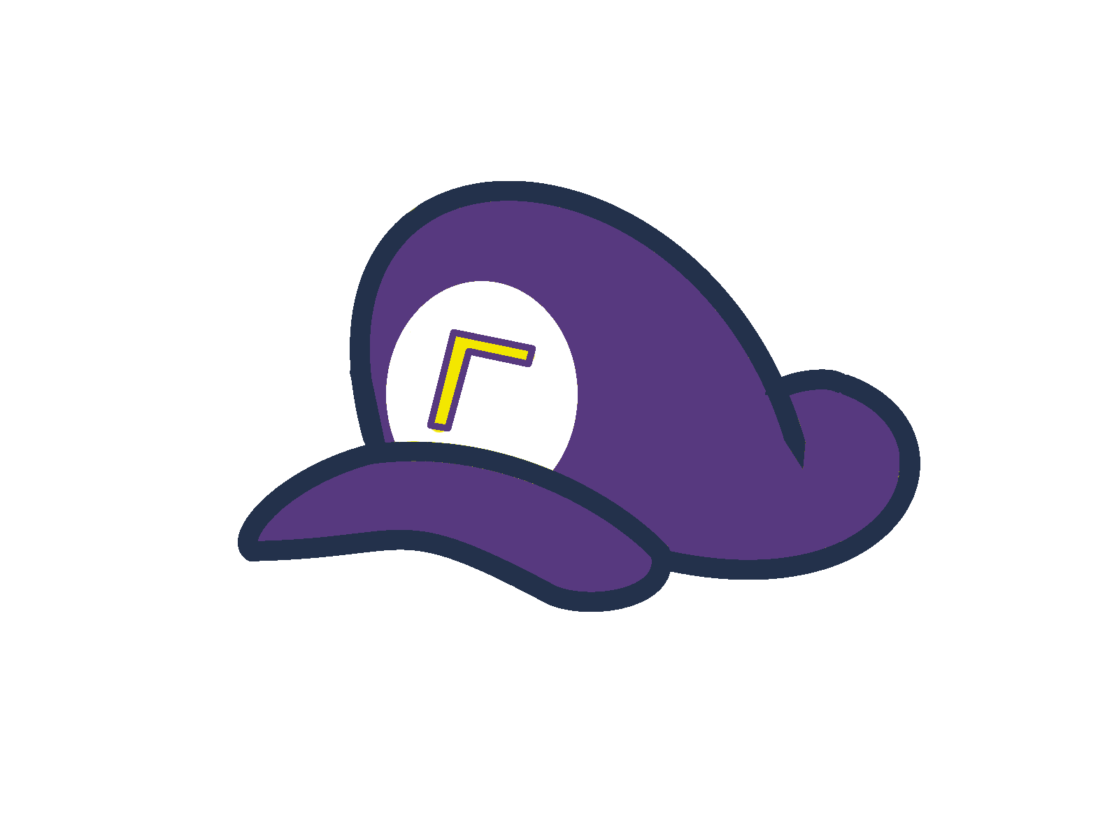 Waluigi's hat in the s... Youtube Icon Png Transparent