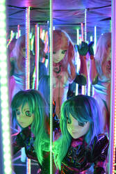 Vera and Alisa in a labirint of mirrors