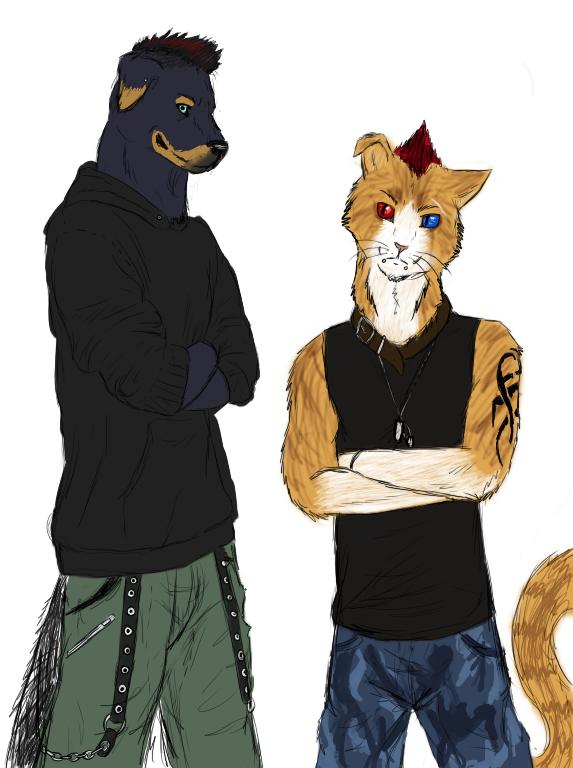 Furry couple by Blainz