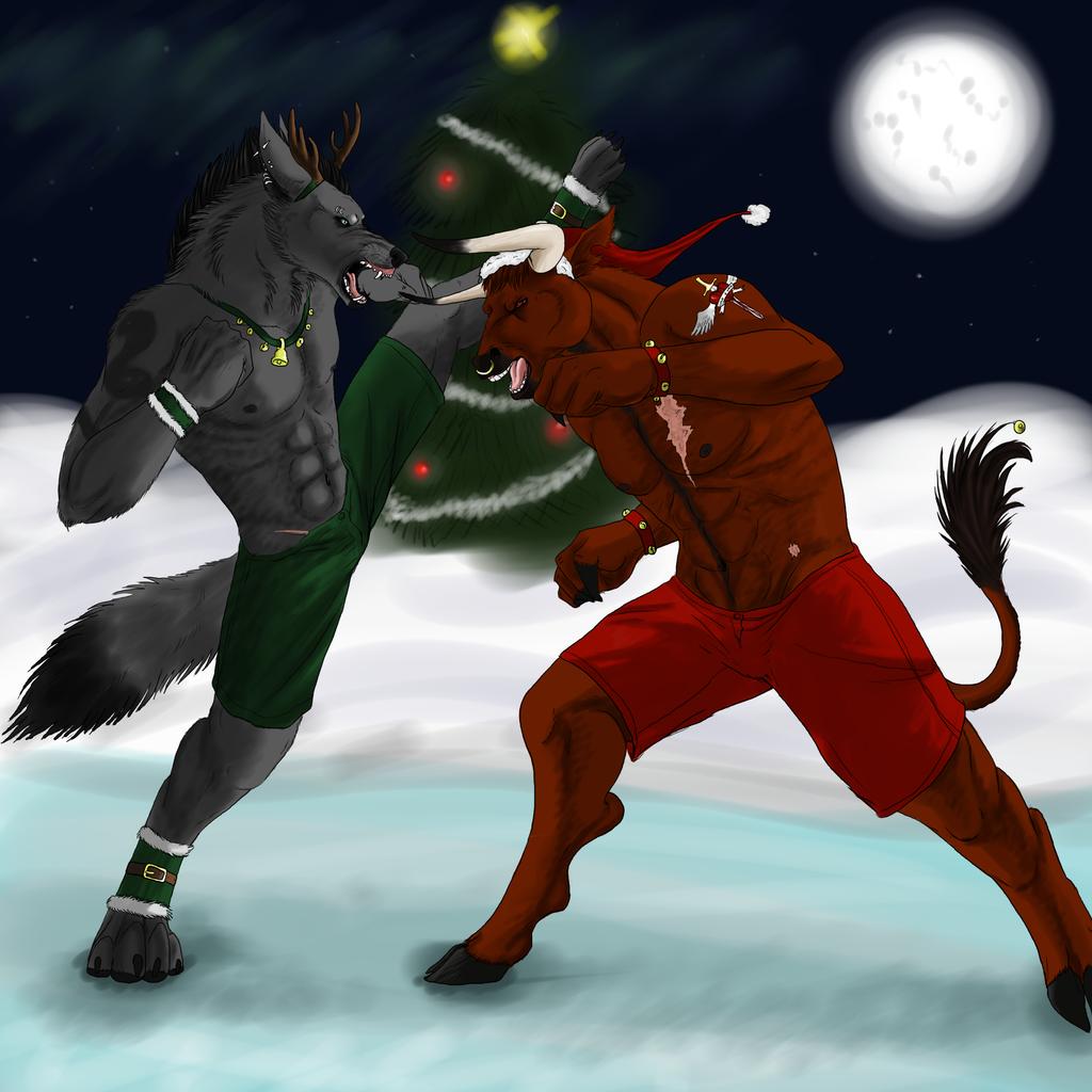 Christmas fight by Blainz