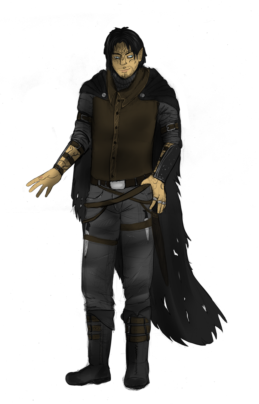 Half elf - male rogue by Blainz