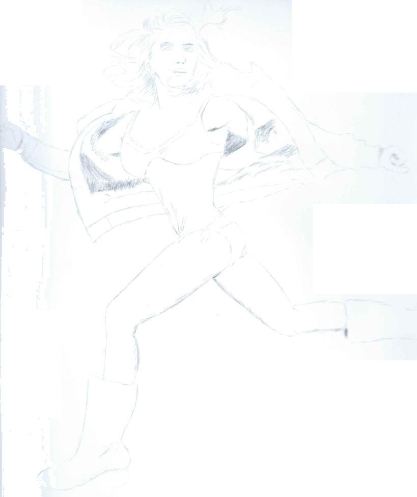 Claire Bidez running in bikini by irate-velociraptor