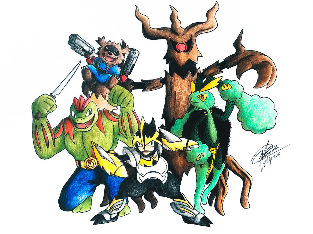 Marvel x pokemon guardians of the galaxy by goldprovip on deviantart