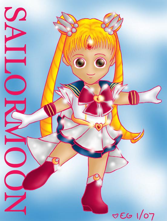 Myu-style SD Super Sailormoon by lizabee