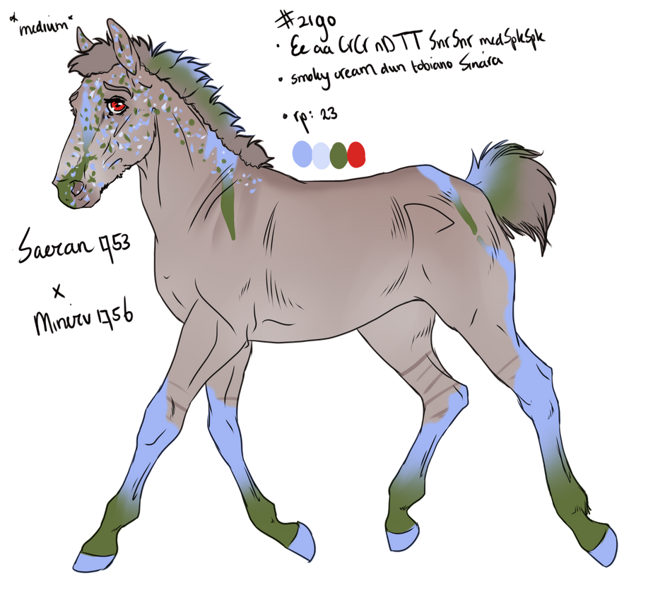 2190 Padro Foal Design by Skorca